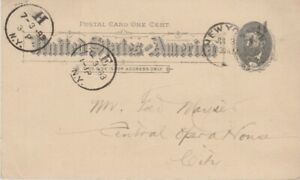 United states-1893 1 c black on buff PS postcard PC 9 New York local cover
