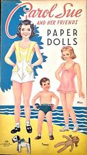 Old & Original CAROL SUE & HER FRIENDS Paper Doll Book, 1948, Uncut