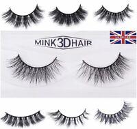 New 3D Mink False Eyelashes Thick Wispy Natural Handmade Lashes Makeup 1 Pair