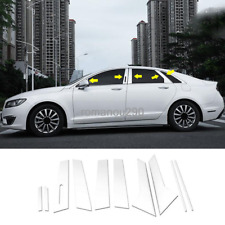 For Lincoln MKZ 2017-2019 Chrome stainless stee Window Pillar Posts trim 10pcs