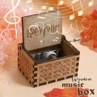 Harry Potter Music Box Engraved Wooden Music Box Interesting Toys Xmas Kid Gift