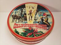 Vintage COLLIN STREET BAKERY TIN fruit cake Corsicana Texas Empty