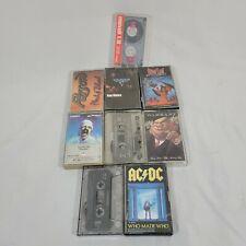 Cassette Tapes 80s 90s Lot Hard Rock - ACDC, Def, Warrant, Van, Poison, T5