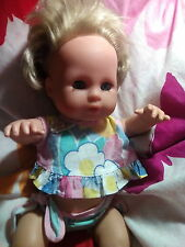 Bade Puppe Zapf Creation Bubble Baby Jolly Dolly New Born Reborn Puppe süß Rebor
