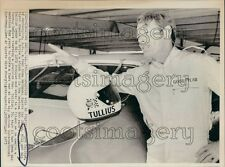 1973 Press Photo Auto Racing Driver Bob Tullius