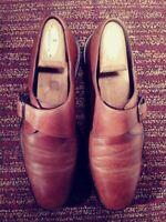 J Murphy Mens Monk Cognac Brown Shoes Size 9.5 M.