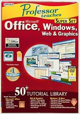 Professor Teaches Microsoft Office Windows Web Tutorial Learning software PC CD