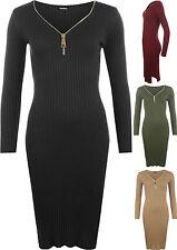 Polyester V-Neck Jumper Dresses for Women