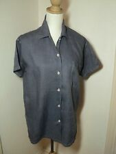 SALE   country road blue shirt  linen mix oversize s