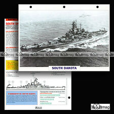 #024.01 Fiche Navire militaire USS SOUTH DAKOTA BB-57 US NAVY Cuirassé 1941 WW2