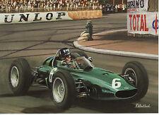 BRM P57 1963 GRAHAM HILL Victoire Grand Prix de Monaco Sport Automobile CARTE DE VŒUX