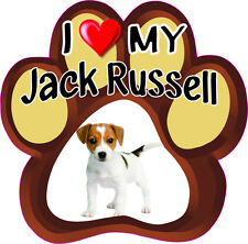 I LOVE MY JACK RUSSELL Cute DOG Bumper Sticker PAW #142