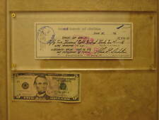 Lucite Plastic Money, Card, Display Holder, Screw Down 12 1/2 x 5