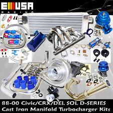 Honda Civic Complete Turbo Kit D SS ManifoldEX/Si 1.6L SOHC VTEC I-4 125HP D16Z6