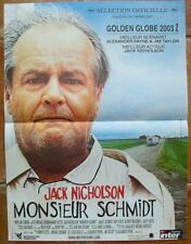 MONSIEUR SCHMIDT (AFFICHE CINEMA 53x40) Jack NICHOLSON - Alexander PAYNE