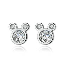 9b6e5739d Micro-inlay Cubic Zirconia 925 Sterling Silver Disney Mickey Mouse Stud  Earring