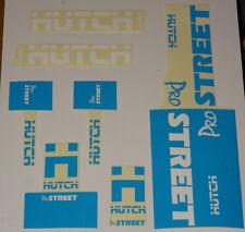 HUTCH Street BMX STICKER SET-NOS Vecchia Scuola Freestyle Decalcomania Set 80 S ORIGINALE