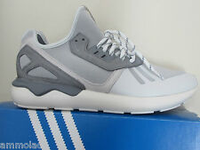 Rare Adidas Originals Tubular Runner White Grey Electric Green M19645 Trainers