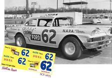 CD_2675 #62 Walter Wallace 1958 Ford    1:25 scale DECALS