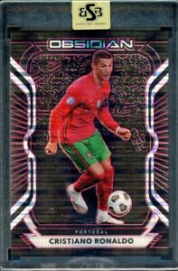 2020 Panini Obsidian Cristiano Ronaldo 01/28 Red Pulsar Electric Etch Parallel