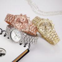Geneva Luxury Women Fashion Stainless Steel Quartz Analog Crystal Wrist Watch