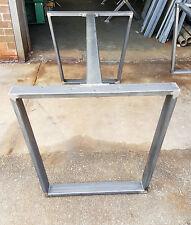 Diy industrielle de forme trapézoïdale acier table de salle à manger jambes avec appui central brace raw