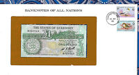 Banknotes of All Nations State of Guernsey 1 pound 1980 P-48a UNC Prefix B