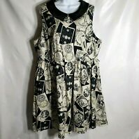 Modcloth 2X 20 Halloween Whimsy Without End Tarot Card Fortune Fit & Flare Dress