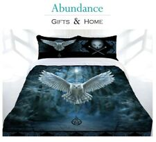Anne Stokes 'Awaken Your Magic' Owl Pentagram QUEEN BED Quilt Cover Doona Set