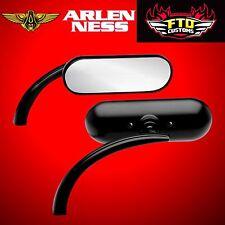 Arlen Ness Mirror Micro Oval Black Left Side 13-412