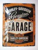 Blechschild groß Harley Davidson Werkstatt Garage,Nostalgie Schild 40 cm,