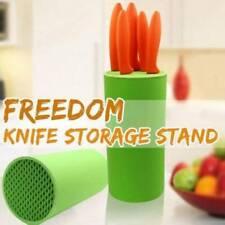 Knife Block Holder Round / Oval Block Knife Storage Universal Holder Knife Rack