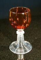 Beautiful Vintage Ruby Glass Wine Glass