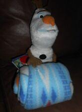 "Disney Frozen Character Doll & Throw 2 pc SET Olaf Throw Blanket & Plush ""OLAF"""
