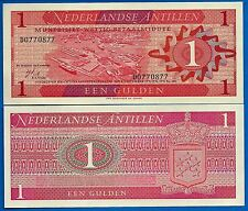 Netherlands Antilles P-20 One Gulden Year 8.9.1970 Uncirculated Banknote