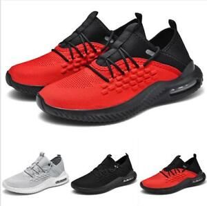 Men's Sneakers Shoes Mesh Breathable Lace up Flats Outdoor Running Sport Shoes