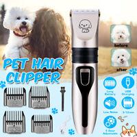 Electric Dog Clipper Comb Set Hair Trimmer Blade Cat Pet USB Charging Cordless