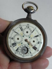 ANCIENNE GROSSE MONTRE GOUSSET REGULATEUR COMPLICATION 6 AIGUILLES POCKET WATCH