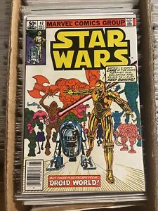 STAR WARS #47 FRANK MILLER ONLY SW UNIVERSE NEWSSTAND COVER 1981 c-3po r2-d2