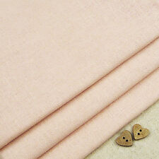 Robert Kaufman Essex Peach Pink Linen Blend Fabric / dressmaking baby girl quilt