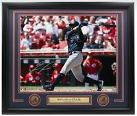 Ronald Acuna Jr. Signed Framed Atlanta Braves 16x20 Batting Photo JSA ITP