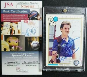 1990 Kingpins PBA #23 Pete Weber Signed Rookie Card Autograph RC Auto JSA GOAT