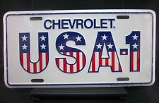 "Premium Chevy ""USA-1"" Vanity Plate/Tag -Car/Truck-GM Officially Licensed-"
