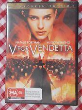 V FOR VENDETTA - Natalie Portman, Hugo Weaving - Widescreen - DVD Like New - R4