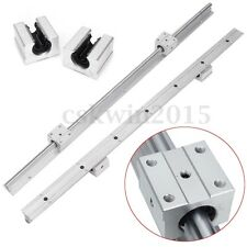2Pcs SBR12 1500mm 20MM Support Linear Rail Shaft Rod + 4Pcs SBR20UU Block Set