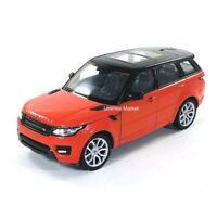 Land Rover Range Rover Sport SUV Sunroof Orange 1:24 Diecast Vehicle Welly 24059