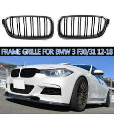 ☆Carbon Fiber ☆ Front Bumper Kidney Grill Grille For BMW 3 F30 31 2012-2018 NEW