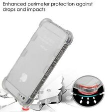 For Apple iPhone 5 5s SE Shockproof Hybrid Clear Rubber TPU Silicone Case Cover