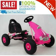 Princess Rubber Wheel Go Kart/Cart Pink 3 To 8 Years Birthday Gift For Kids NEW