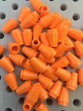 LEGO 1x1 Orange Round Nose Cones Bricks Small New Lot Of 50